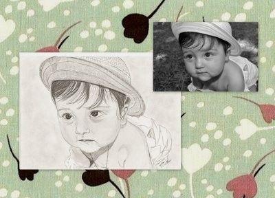 portrait enfant sur commande